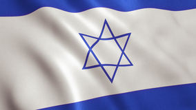 Israel Flag. Background with fabric texture. 3D illustration vector illustration