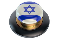 Israel flag button Stock Photography