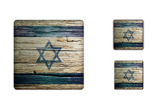 Israel flag Buttons Royalty Free Stock Photo