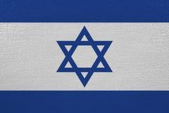 Israel flag on canvas. Patriotic background. National flag of Israel royalty free illustration