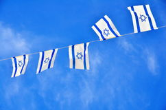 Israel Flag chain on Independence Day Stock Images