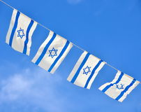 Israel Flag chain on Independence Day Royalty Free Stock Images