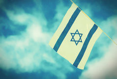 Israel Flag chain on Independence Day - vintage effect Stock Photography