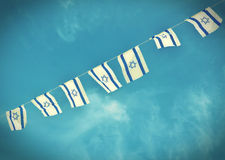 Free Israel Flag Chain On Independence Day - Vintage Effect Royalty Free Stock Images - 50398549