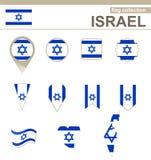 Israel Flag Collection illustrazione di stock