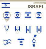 Israel Flag Collection. 12 versions stock illustration