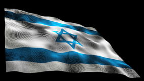 Israel flag stock video