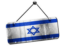 Israel flag, 3D rendering, vintage grunge hanging sign Royalty Free Stock Photos