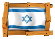 Israel flag design on square badge Royalty Free Stock Photos