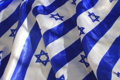 Israel Flag Fabric Royalty-vrije Stock Afbeelding
