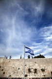 Israel Flag & The Wailing Wall Stock Images