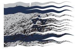 Israel Flag Grunged onduleux Images stock