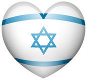 Israel flag in heart shape Royalty Free Stock Photo