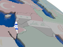 Israel with flag Royalty Free Stock Image