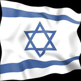 Israel Flag Indicates Middle East et pays Photographie stock