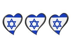 Israel Flag Inside Heart Eurovisions-Lied-Wettbewerb 2019 in Israel Stockfotografie