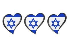 Israel Flag Inside Heart Strid för Eurovision sång 2019 i Israel vektor illustrationer