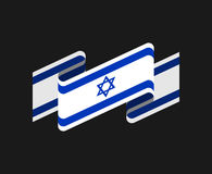 Israel flag isolated. Israeli banner ribbon. Jewish Symbol of St Royalty Free Stock Image