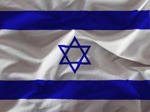 Israel flag. On white background stock images