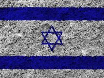 Israel flag. On white background royalty free stock photo