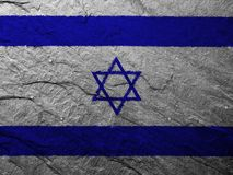 Israel flag. On white background stock photography