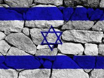 Israel flag. On white background stock photos