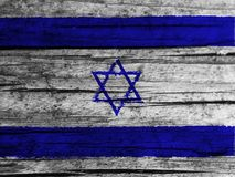 Israel flag. On white background stock photo