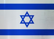 Israel Flag Metallic Texture Abstract-Achtergrond Royalty-vrije Stock Fotografie