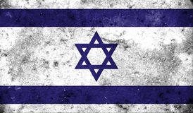 Israel flag on old background retro effect Royalty Free Stock Photo
