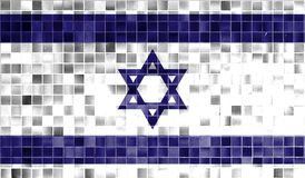 Israel flag on old background retro effect Stock Photography