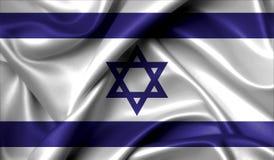 Israel flag on old background retro effect Stock Photo
