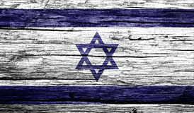 Israel flag on old background retro effect Royalty Free Stock Images