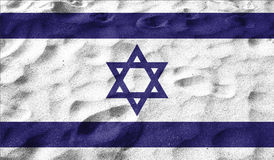 Israel flag on old background retro effect Royalty Free Stock Photos