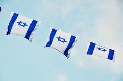 Israel Flag på självständighetsdagen Royaltyfri Fotografi
