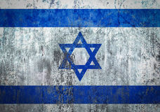 Israel Flag painted on a Wall. Ddistressed Painting of a Flag on an old Wall Royalty Free Stock Image
