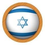 Israel flag on round badge Stock Photography