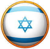 Israel flag on round button Royalty Free Stock Photos
