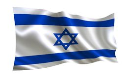 Israel flag. A series of  `Flags of the world.` The country - Israel. Israel flag. A  series of `Flags of the world.` The country - Israel Stock Photography