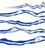 Israel flag set on Royalty Free Stock Photography