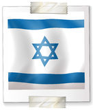 Israel flag on square paper Royalty Free Stock Photos