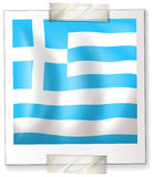 Israel flag on square paper Stock Photos