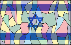 Israel Flag Stained Glass Royalty-vrije Stock Foto's