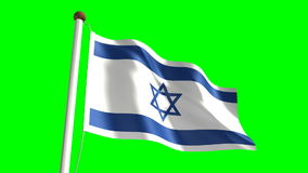 Israel flag stock video footage