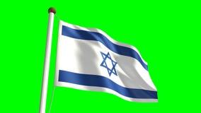Israel flag stock video footage