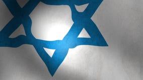 Israel Flag waving stock video footage