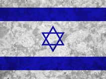 Israel flag. On white background royalty free stock photography