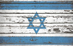 Israel flag. On wooden background royalty free stock photos