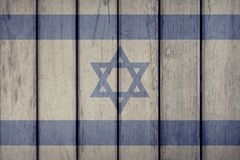 Israel Flag Wooden Fence photos stock