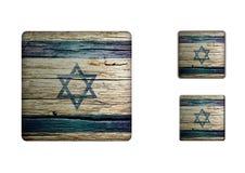 Israel flaggaknappar Royaltyfri Foto