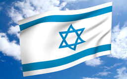 Israel Flags Stock Photos